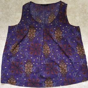 Capsule clothing women's purple blouse tank